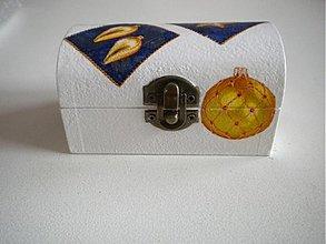 Krabičky - Krabička-Modro-zlatá - 3339644