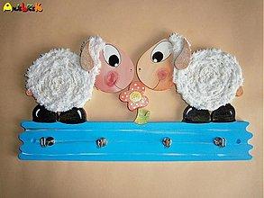 Dekorácie - Vešiak ovečky - 3340198