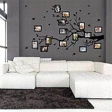 Dekorácie - 3400N nálepka na stenu Konár na rodokmeň pre fotky 9x13cm - 3342578