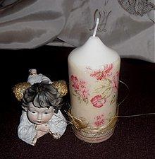 Svietidlá a sviečky - sviečka ruže - 3342601