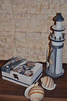Krabičky - Námornícka krabička s mackom - 3343680