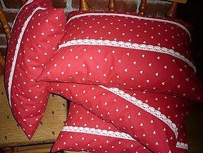 Úžitkový textil - srdiečka v červenom - 3345695