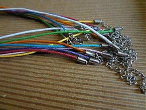 Komponenty - Saténový náhrdelník - 3347411