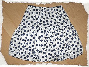 Sukne - Bodkovaná nadýchaná suknička - 3347450
