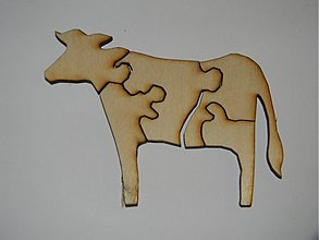Hračky - Puzlle  krava - 3347607