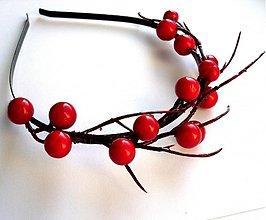 Ozdoby do vlasov - Červené bobuľky II - 3349150