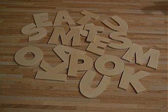 Polotovary - Písmenká 7 cm - 3351799