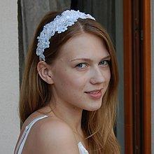 Ozdoby do vlasov - Vintage krajková ... čelenka - 3353752