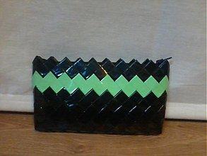 Kabelky - Čierno pastel.zelená do ruky - 3354466