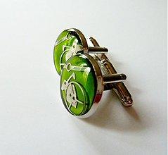 Šperky - Manžetové gombíky zelené - 3355859