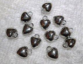 Korálky - Srdce plast-1ks - 3357810