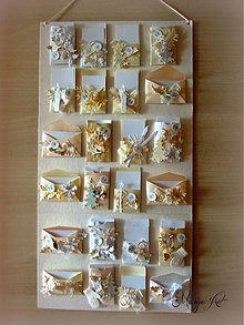 Dekorácie - Shabby Chic Adventný kalendárik - 3359023