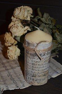 Svietidlá a sviečky - Starodávna sviečka - 3359200