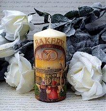 Svietidlá a sviečky - Vianočná vintage sviečka - 3363485
