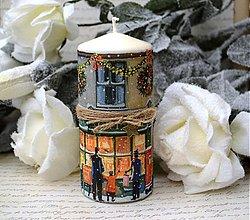 Svietidlá a sviečky - Vianočná vintage sviečka - 3363527
