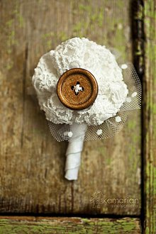Pierka - Pierko pre ženícha s gombíčkom - 3363551