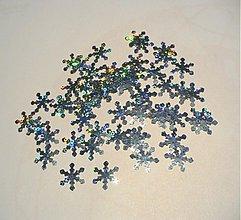 Papier - vločka strieborná glitter/ 20ks - 3366069