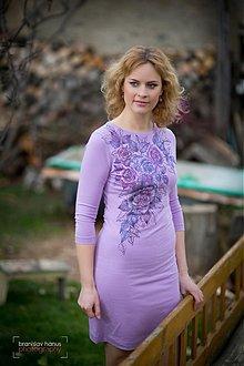 Šaty - Lila ....maľované - 3367068