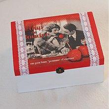 Krabičky - Krabička na čaj/šperkovnica Amour - 3371995