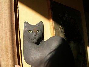 Socha - Mačka  šedá .... Už ťa mááám ........ :o)) - 3373204