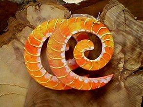 Náušnice - Obojstranné 3D náušnice - pomarančové želé - 3373393
