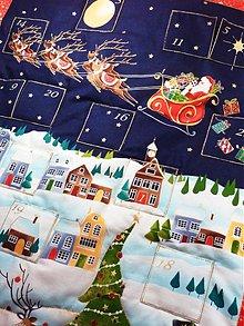 """Dekorácie - Adventný kalendár  """"Santa"""" - 3373578"""
