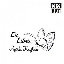 Nezaradené - Razítko EX LIBRIS motýľ - 3373998