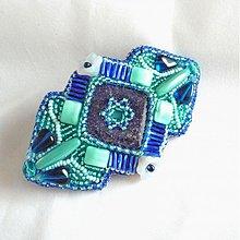 Ozdoby do vlasov - Spona  s lapisem lazuli - 3374045