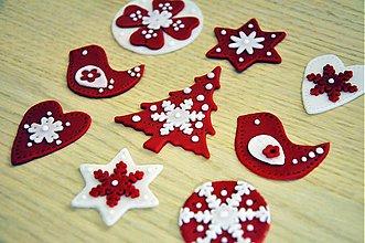 Drobnosti - Škandinávske Vianoce (jedlé ozdoby 9 ks) - 3378558