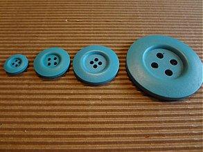 Galantéria - Petrolejový drevený gombíček 50mm - 3381592