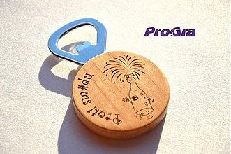 Iné - Otvárač na fľaše (magnetka) s Vašim nápisom - 3381731