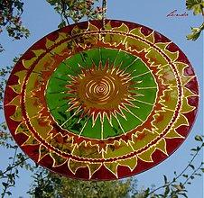Dekorácie - Mandala-Ohnivé Slnce - 3383617