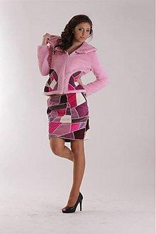 Kabáty - Ružová šitá mozaika - kostým - 3385800