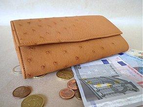 Peňaženky - Peňaženka dámska pštros - 3388250