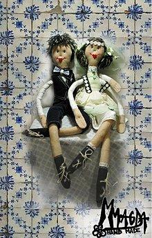 Darčeky pre svadobčanov - SVADOBNÝ PÁRIK na objednávku - 33909
