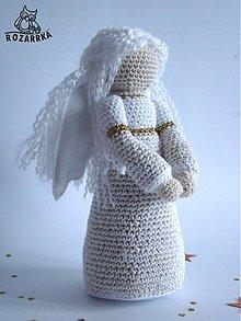 Návody a literatúra - návod na háčkovaného anjela (cca 21,5cm) - 3391262