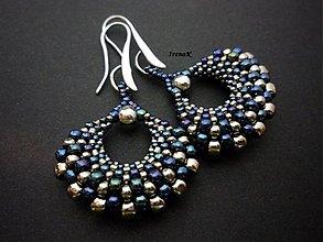 Náušnice - Taštička modrá - 3391614