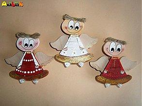 Dekorácie - Anjelik vianočný štipec - 3392395