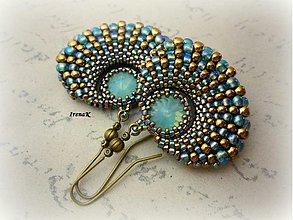 Náušnice - Taštička Pacific Opal (veľké) - 3392424