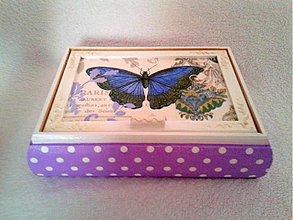 Krabičky - Šperkovnica Motýlik - 3393350