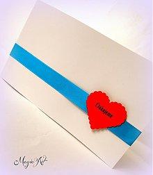 Dekorácie - Ďakovné kartičky pre svadočanov II.