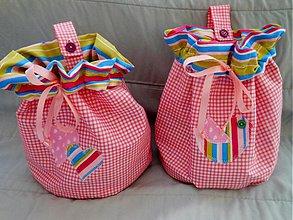Úžitkový textil - Vrecká ružové - 3394383