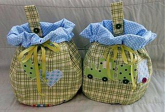 Úžitkový textil - Vrecká zelené - 3394431