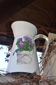 Nádoby - Zinkový sirôtkový džbán - 3394506