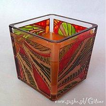 Svietidlá a sviečky - Sviečka v skle - Mušky - 3396221