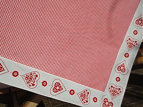 Úžitkový textil - Obrus - Srdiečkový - - 3396344