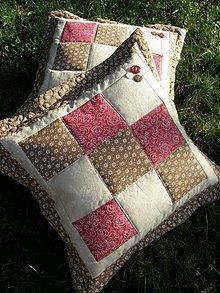 Úžitkový textil - Vankúše - hnedé tóny plus bordó...:))) - 3399375