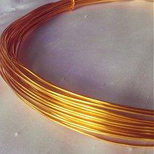 Suroviny - Hliníkový drôt žltozlatý 1mm, 0,90€/meter - 3399673