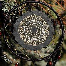 Dekorácie - ...čierny lapač snov s pentagramom - 3400697