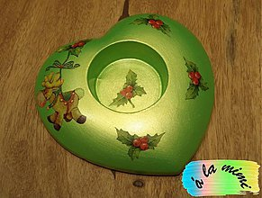 Svietidlá a sviečky - Zelený so sobíkom - 3406444
